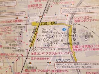 武蔵小杉駅周辺マップ