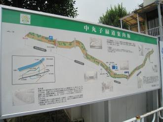 中丸子緑道の案内板