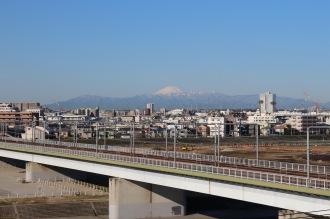東急線と富士山