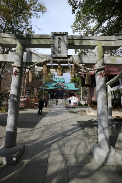 多摩川浅間神社の境内
