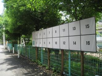 二ヶ領用水の掲示板