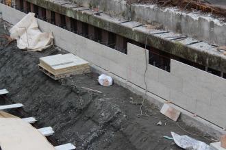 壁面の工事