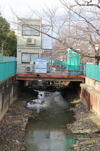 渋川親水遊歩道整備工事の事務所