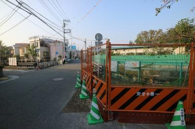 拡張工事が始まった矢倉橋