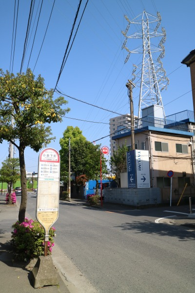 降車する「小倉下町」バス停