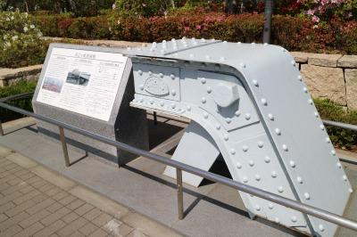 旧江ケ崎跨線橋の一部