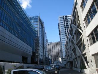(仮称)武蔵小杉新駅前ビルと富士通小杉ビル