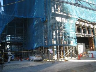 1~2階の工事現場