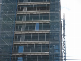 現在の北側壁面高層部の拡大