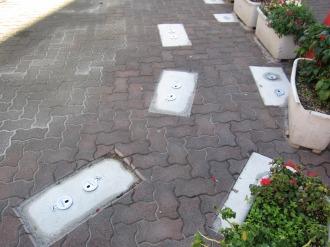 違法駐輪防止のためのフェンス設置場所