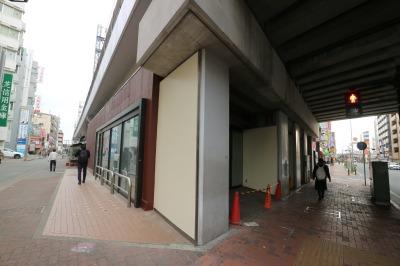 同じく高架下の「マクドナルド武蔵小杉駅前店」跡地