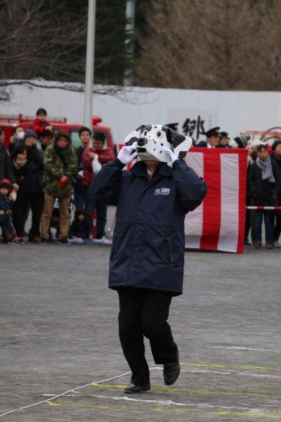 干支の引継ぎ式で、「犬(戌)」が登場