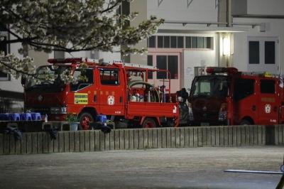 「住吉分団」の消防車