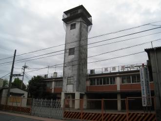 旧中原消防署(解体前)