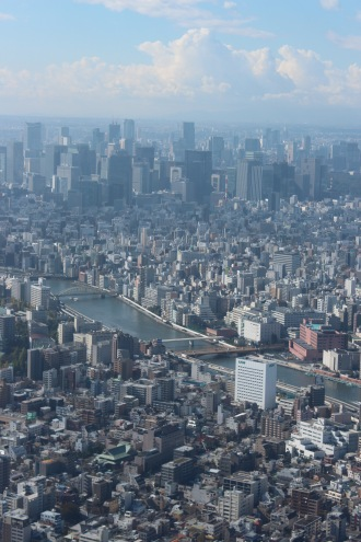 展望台からのぞむ東京都心部