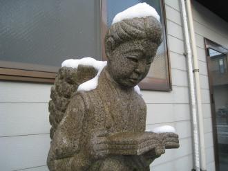 二宮金次郎の雪
