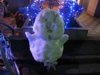 新丸子の雪だるま