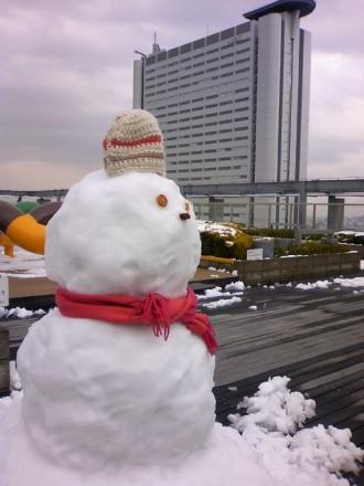 2010年のレジデンス・ザ・武蔵小杉の雪だるま