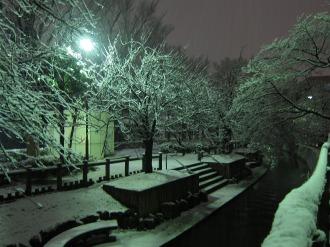二ヶ領用水の雪