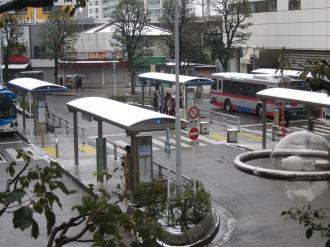 武蔵小杉駅北口バスロータリー