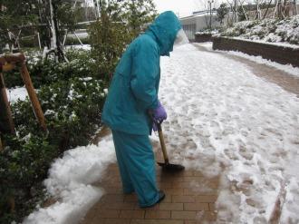 リエトコート武蔵小杉の雪かき