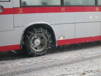 東急バスの後輪チェーン