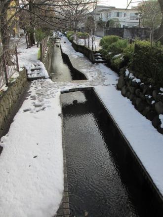 渋川の雪景色
