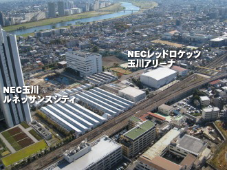 NEC玉川事業場俯瞰