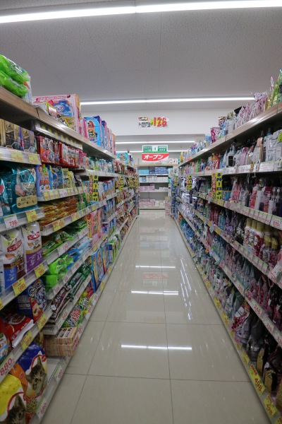 洗剤など生活用品売り場