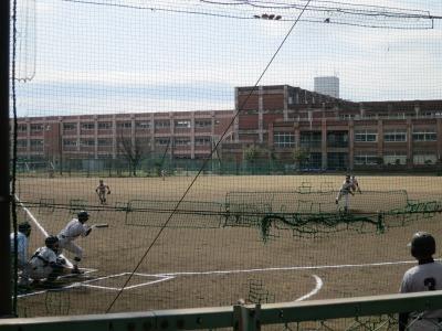 野球部の練習試合