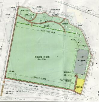 多摩川整備計画(丸子橋第1運動広場)