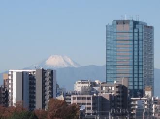 富士山と武蔵小杉タワープレイス
