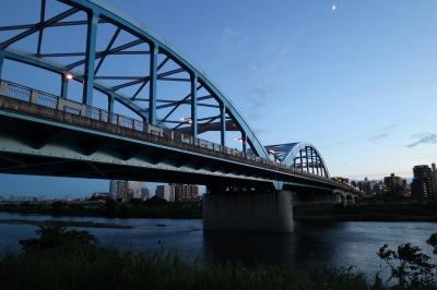 夕暮れの丸子橋