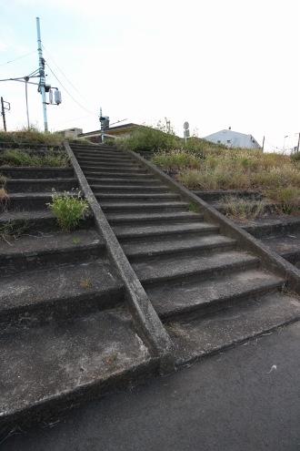 メインスタンドの階段