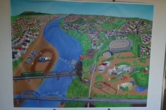 多摩川スピードウェイと多摩川園の絵