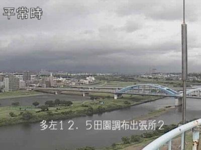 ライブカメラの映像(京浜河川事務所ウェブサイトより)