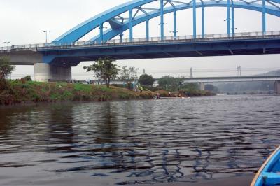 渡し船から見た丸子橋