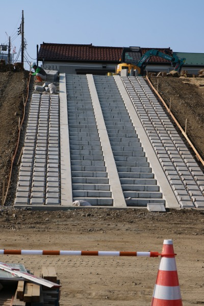 堤防の強化工事