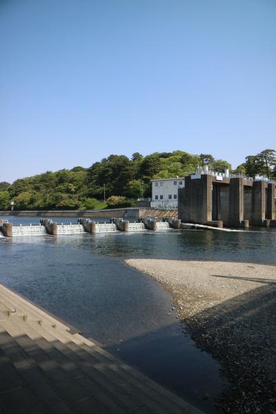 多摩川の「調布取水堰」