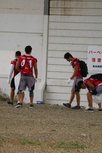 多摩川の清掃活動