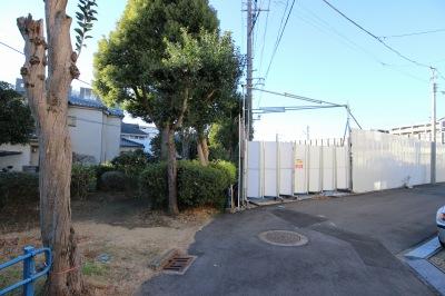 緑道終点隣接のマンション開発