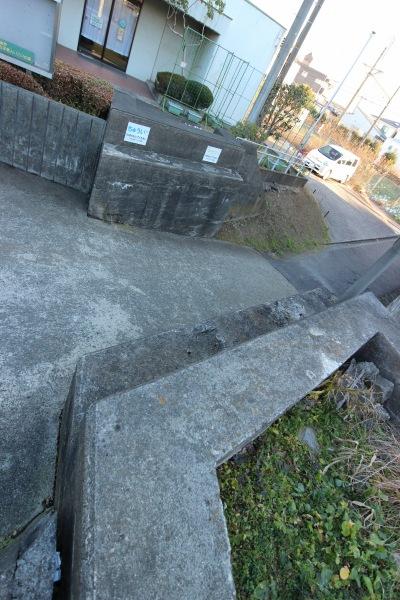 市ノ坪短絡線の両面橋台