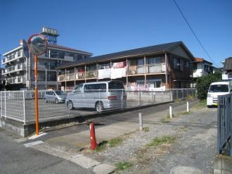 「cafe TEMO」への曲がり角