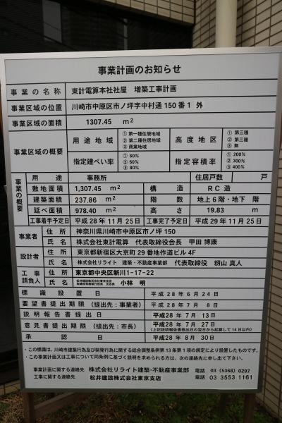 東計電算の増築工事計画