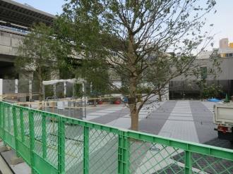 周辺の植栽と公開空地