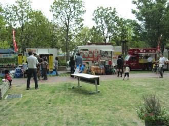 イベント会場の庭園