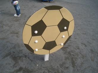 サッカーボールの乗り物