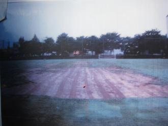 かつての芝生がはげた「等々力第1サッカー場」