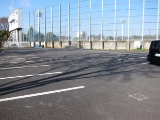 評価実験が行われている中央駐車場