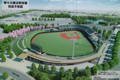 等々力硬式野球場の完成予想図
